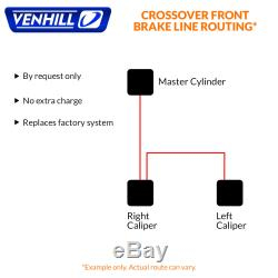 05-06 Suzuki GSXR1000 Front + Rear Braided Stainless SS Brake Lines by Venhill