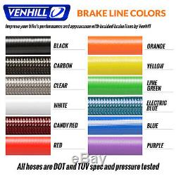 07-08 Yamaha R1 Front + Rear Braided Stainless SS Brake Lines by Venhill