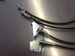 08-09 Pontiac G8 GT GXP 4pc Stainless Steel Brake Hose Set