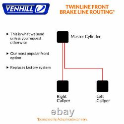 09-14 Yamaha R1 Front + Rear Braided Stainless SS Brake Lines by Venhill