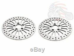 11.5 Front Rear Rotors Super Spoke Set Brake Kit Stainless Steel 84-13 Harley