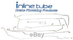 1960-61 Cadillac Deville Eldorado Complete Manual Brake Line Set Kit Stainless