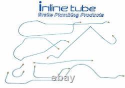 1961 Buick LeSabre Invicta Complete Power Drum Brake Line Set Kit Tube Stainless