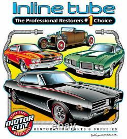 1964 Ford Thunderbird Power Drum Complete Preformed Brake Line Set 6pc, Stainless