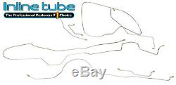 1966 Ford Mustang Complete Power Disc Brake Line Set Kit Tubes Stainless