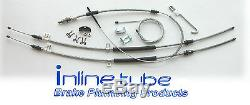 1967-70 Chevrolet Impala T400 Complete Parking Brake Cable Kit Set Stainless