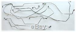 1968 1969 Mopar Coronet Charger Manual Disc Brake Line Set Dana Stainless Steel