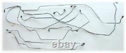 1968 1969 Mopar Coronet Charger Manual Drum Brake Line Set 8-3/4 Axle Stainless