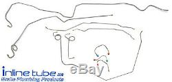 1969 Chevrolet Camaro Complete Power Disc Brake Line Kit 2pc F To R Stainless