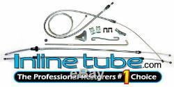 1972-1974 Dodge Challenger E-Body Complete Parking Brake Cable Set Kit Stainless