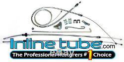1972-1974 Plymouth Cuda Complete Parking Brake Emergency Cable Kit Set Stainless