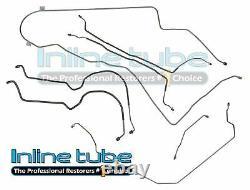 1976-77 Monte Carlo Power Disc Complete Full Brake Lines Tubes Kit Set STAINLESS