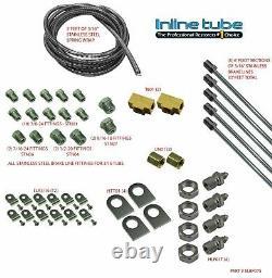 1982-1990 GM Cars 3/16 STAINLESS Brake Line Set Universal Kit STREETROD SAE DIY