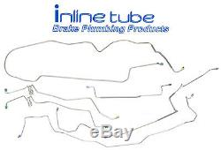 1984-90 Cadillac Brougham Complete Power Disc Brake Line Set Kit Stainless
