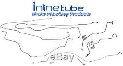 1994-97 Ford F250 F350 4wd Short bed Crew Cab Complete Brake Line Kit Stainless