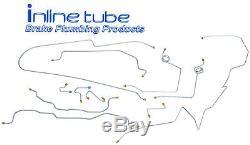 1995-99 Chevrolet GMC 2500 Suburban Brake Line Set 4wd 3/4 Ton Stainless