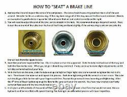 1996-1999 Pontiac Bonneville Complete Preformed Brake Line Kit ABS TC Stainless