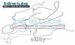 1999-2005 Ford Excursion, 4x4 Complete Brake Line Set Kit ABS 8p Stainless Steel