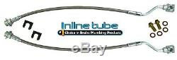 2001-2007 Silverado/Sierra 2500HD/3500 Complete Brake Hose Kit Braided Stainless