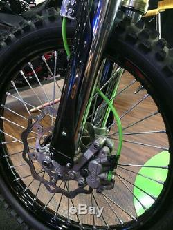 2012 2018 Kawasaki KX 250F Front and Rear Stainless Custom Brake Line Kit