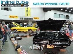 74-82 Chevrolet Corvette POWER Disc Brake Line Kit & SS Flex Hose Set STAINLESS