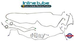 84-88 G-body Monte Carlo Complete CNC Preformed Brake Line Set Tubes STAINLESS