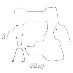 95-00 GM K2500 / K3500 Reg Cab, 8' Bed Complete Brake Line Kit Stainless