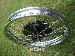 BSA A10 A7 front wheel 8 brake half width hub stainless English made rim spokes