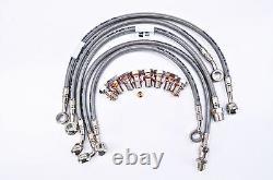 Bmw 2002 R1150r Abs Galfer Stainless Steel 5 Line Front / Rear Brake Line Kit