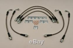 Brake Hose Line Kit Stainless Steel Braided 7pc SSKIT-FZ80D FZJ80 HDJ80 HDJ81