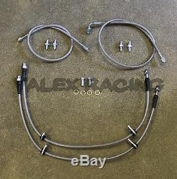Complete Stainless Front Brake Line Replacement Kit For 94-01 Acura Integra DC2