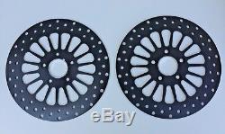 Dna Black Stainless 11.5 Front & Rear Super Spoke Brake Disc Rotors Harley