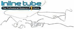 Fits 1987-92 Jeep Wrangler YJ Complete Power Disc Brake Line Set Stainless Steel