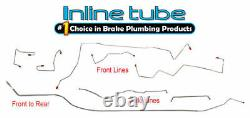Fits 1995-96 Jeep Grand Cherokee Complete Preformed Brake Line Set 4wd Stainless
