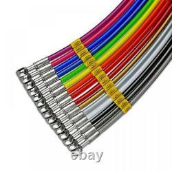 For MAZDA RX8 2003-2012 Bigg Red HEL Stainless Braided Brake Hose KIT (MAZ4111)