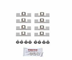 For Mitsubishi Evo 5-9 Front Caliper Stainless Pad plate Steel Shims Screws