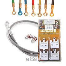 Galfer Front Brake Line & Pad Kit Honda Cbr 600rr 07-09