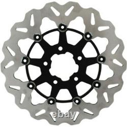 Galfer Stainless Black Solid Mount Front Brake Rotor 11.5 Harley Touring Softail