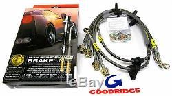 Goodridge Stainless Steel Brake Lines Integra 94-01 civic 92-95 Front & Rear