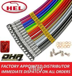 HEL Stainless Braided Front & Rear Brake Lines for Yamaha MT-07 ABS 2013-2019