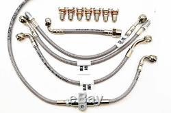 Honda 2014-16 Cbr 650 F Abs Galfer Ss Front / Rear / Clutch Brake 6 Line Kit