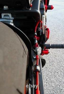 Honda CBR 1000RR Brake Lines 2006 2007 Front & Rear Red Braided Stainless Steel