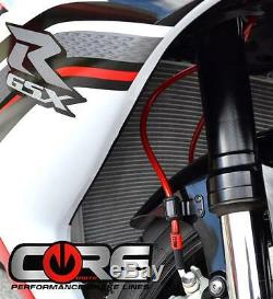 Honda CBR 1000RR Brake Lines 2008-2016 Non-ABS Front-Rear Red Braided Stainless