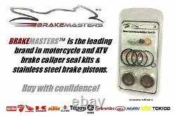 Honda VFR800 VTEC front brake caliper piston set stainless 2002 2003 2004 kit