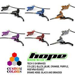 Hope Tech 3 E4 Enduro Brakes Black / Braided Hose All Colors Brand New