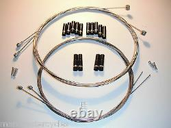 Jagwire Braided Stainless SL Bike Cable Kit Brake Gear Front Rear inner & outers