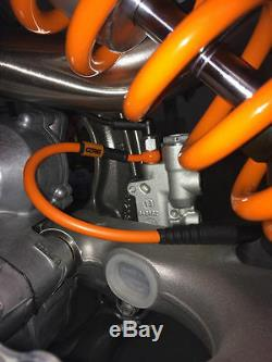 Ktm 125 Sx 2004-2011 Front And Rear Stainless Brake Line Combo Kit Ktm Orange