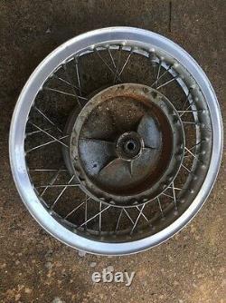 Moto Guzzi Front Wheel Brake Hub Stainless Spokes Tonti