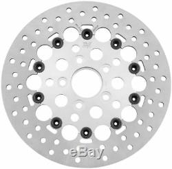 New Holes SS Stainless Steel Silver Floating Front 11.5 Disc Brake Rotor Harley
