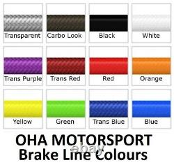 OHA Stainless Braided Front & Rear Brake Lines for BMW K100 RS 16v ABS 1990-1997